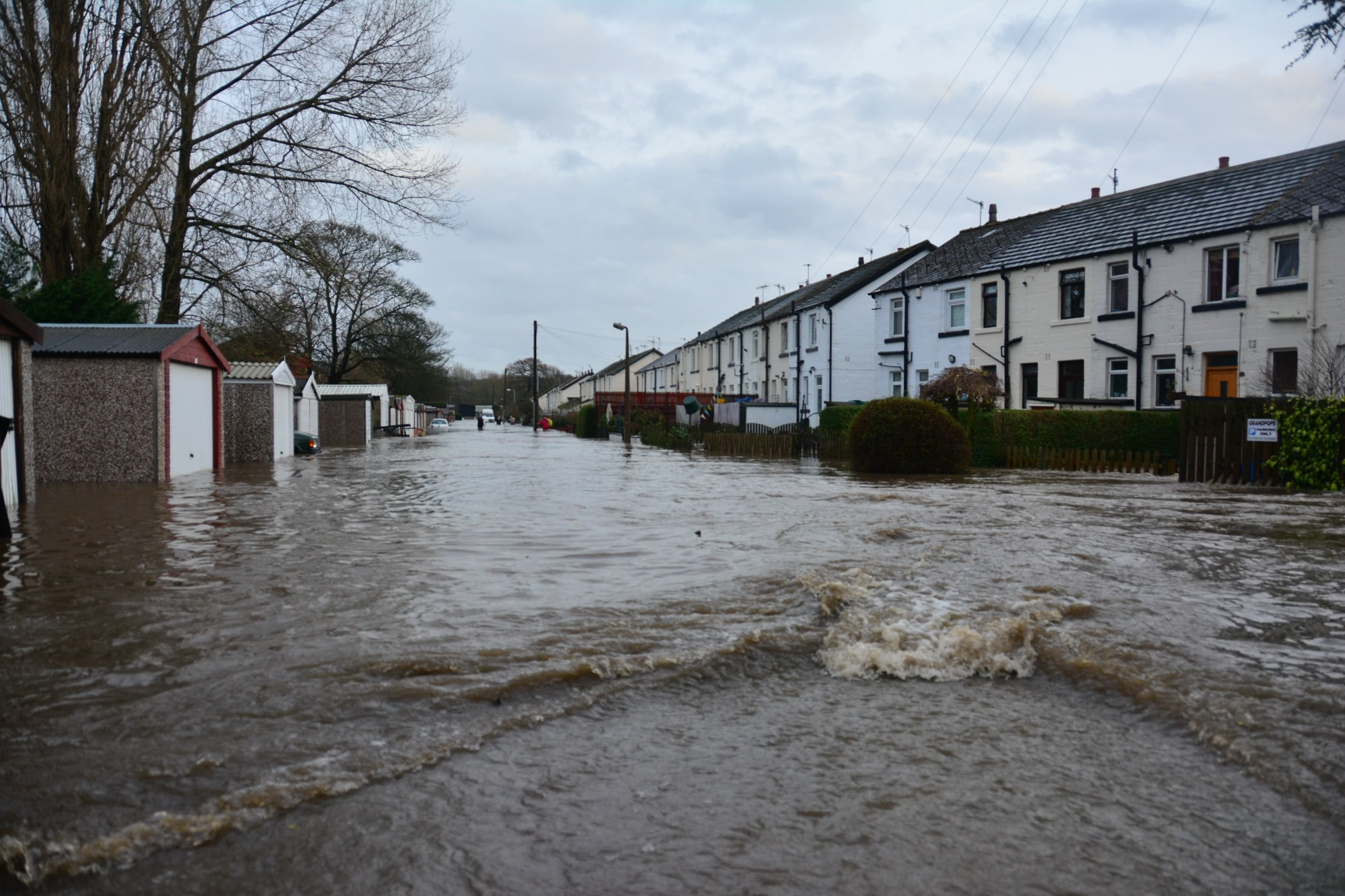 residential house flooding