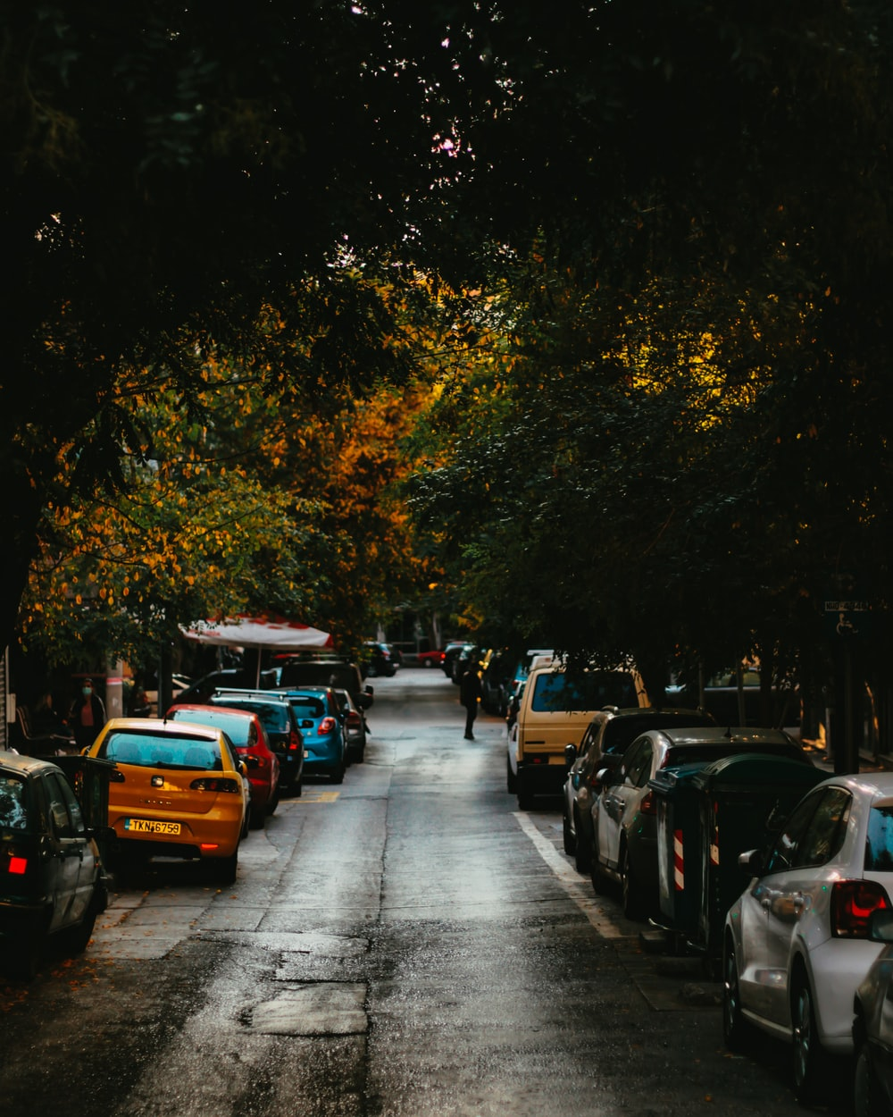 cars parked on the side of the road during daytime