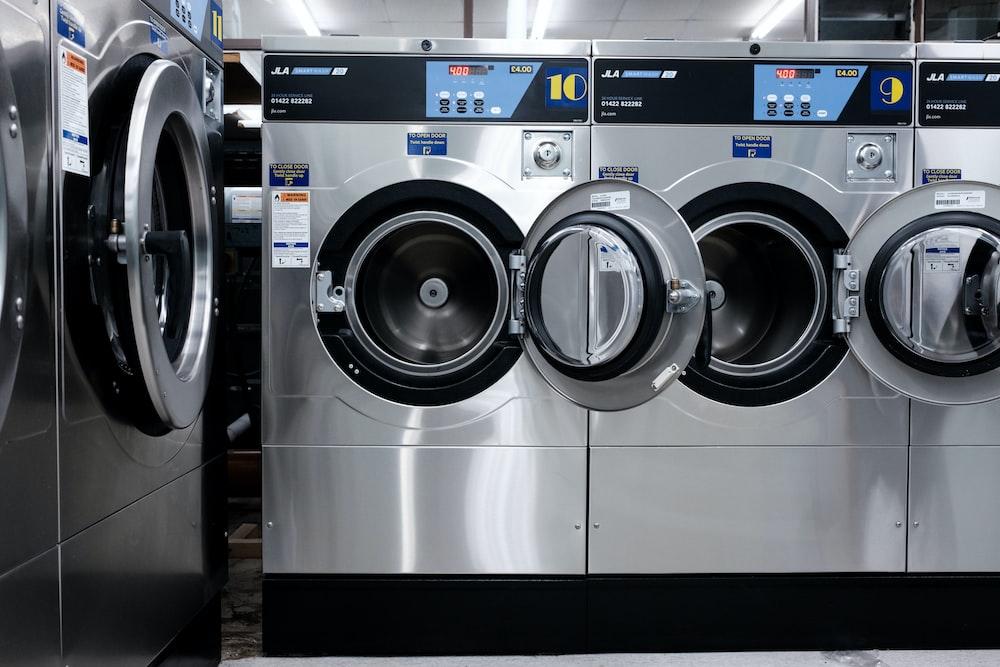 white front load washing machine
