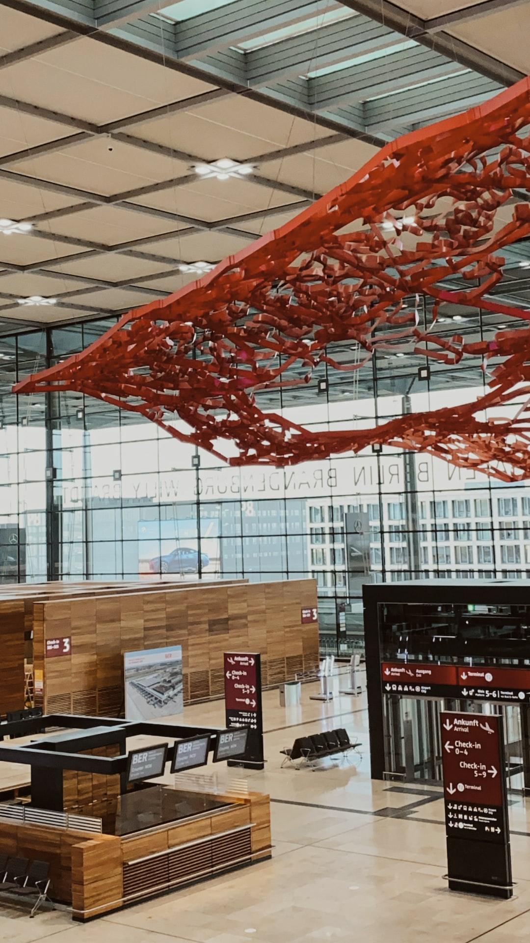 Get on the bus in Berlin Schönefeld Airport