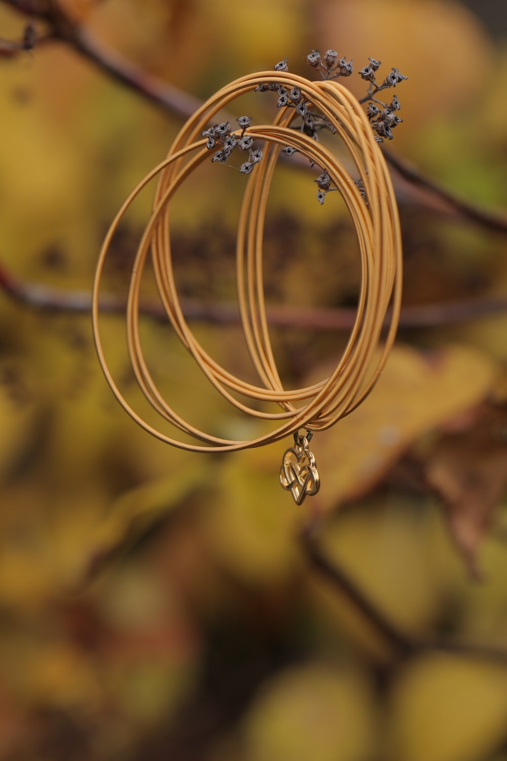gold colored accessory in close up photography