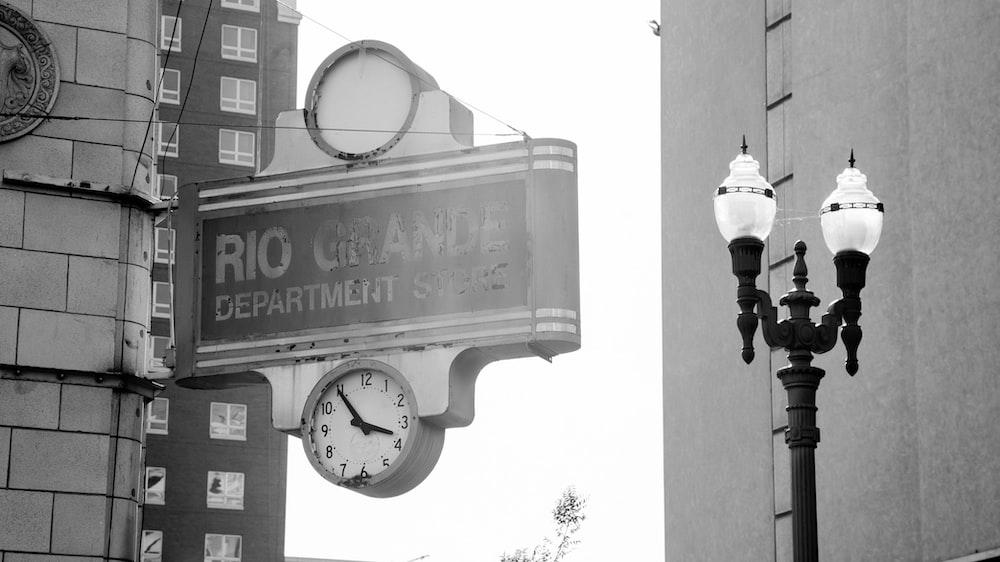 black and white street light