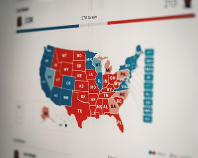 red and blue building illustration republican teams background