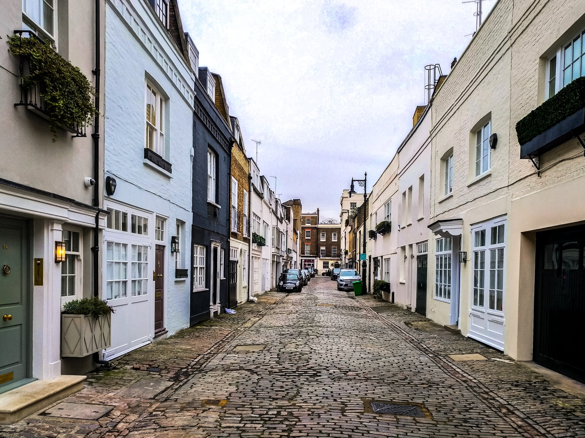 Most streets in London look like this. And I love them!