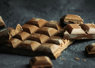 brown and black chocolate bars