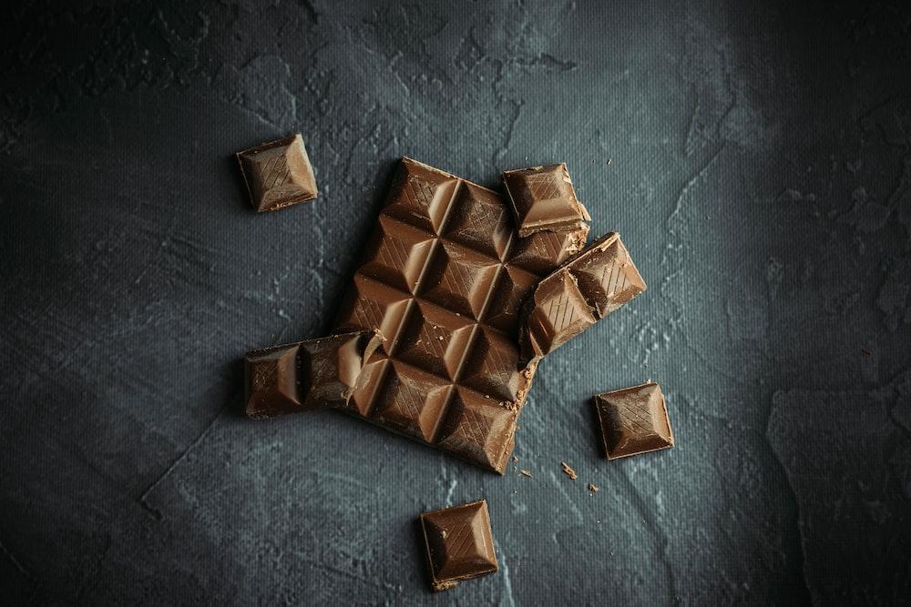 brown wooden blocks on gray concrete floor