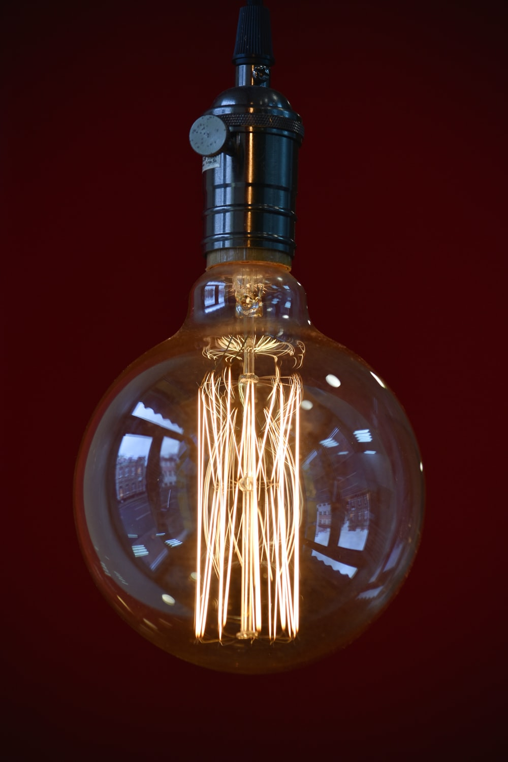 clear glass bulb with light