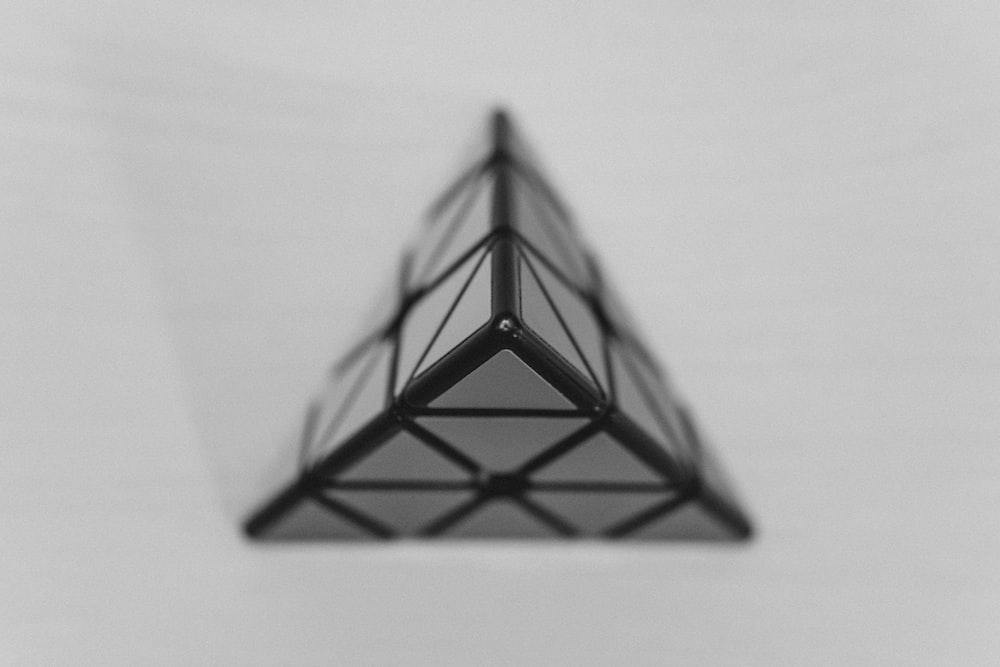 black and white pyramid illustration