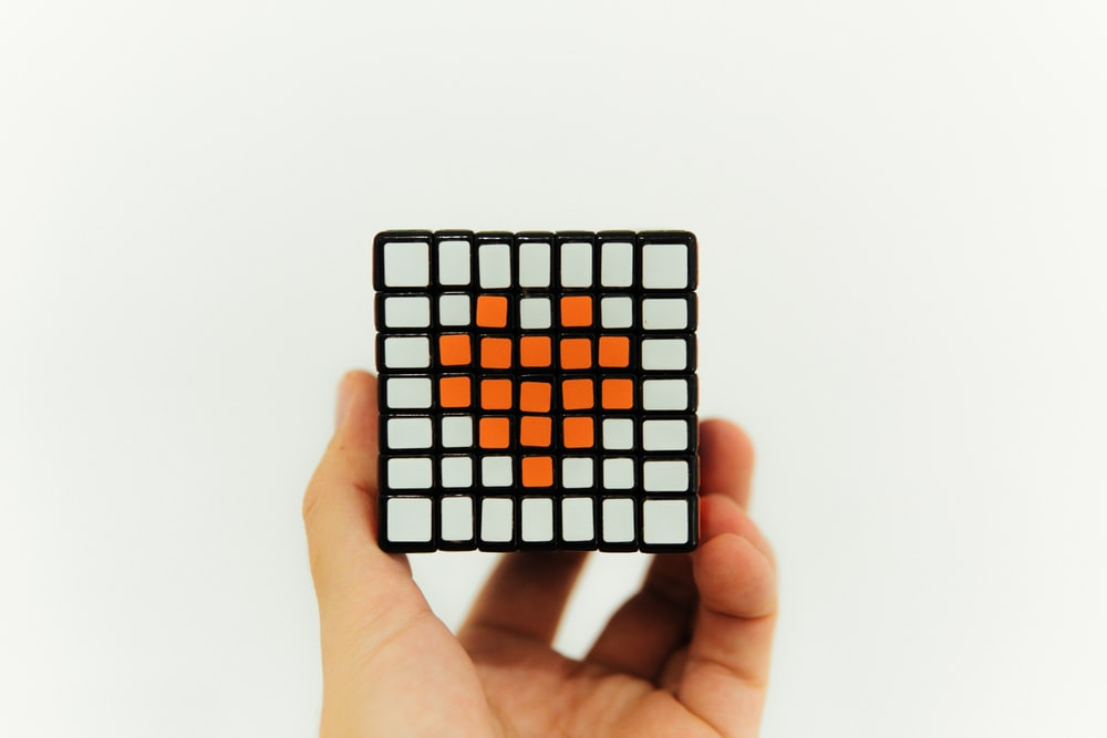 black and white checkered card