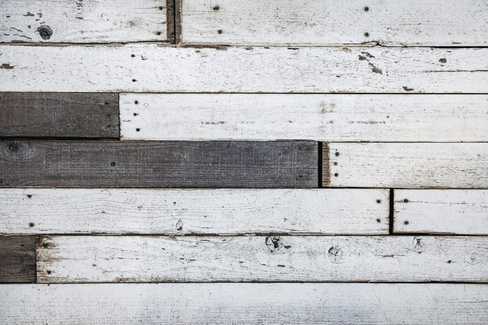 white and brown wooden surface