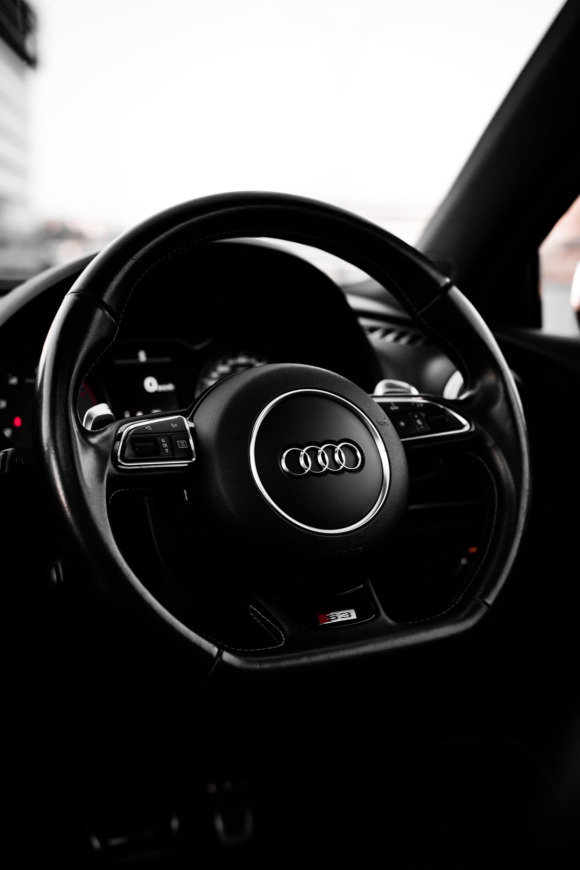 Black Audi Steering Wheel In Close Up Photography Photo Free Steering Wheel Image On Unsplash