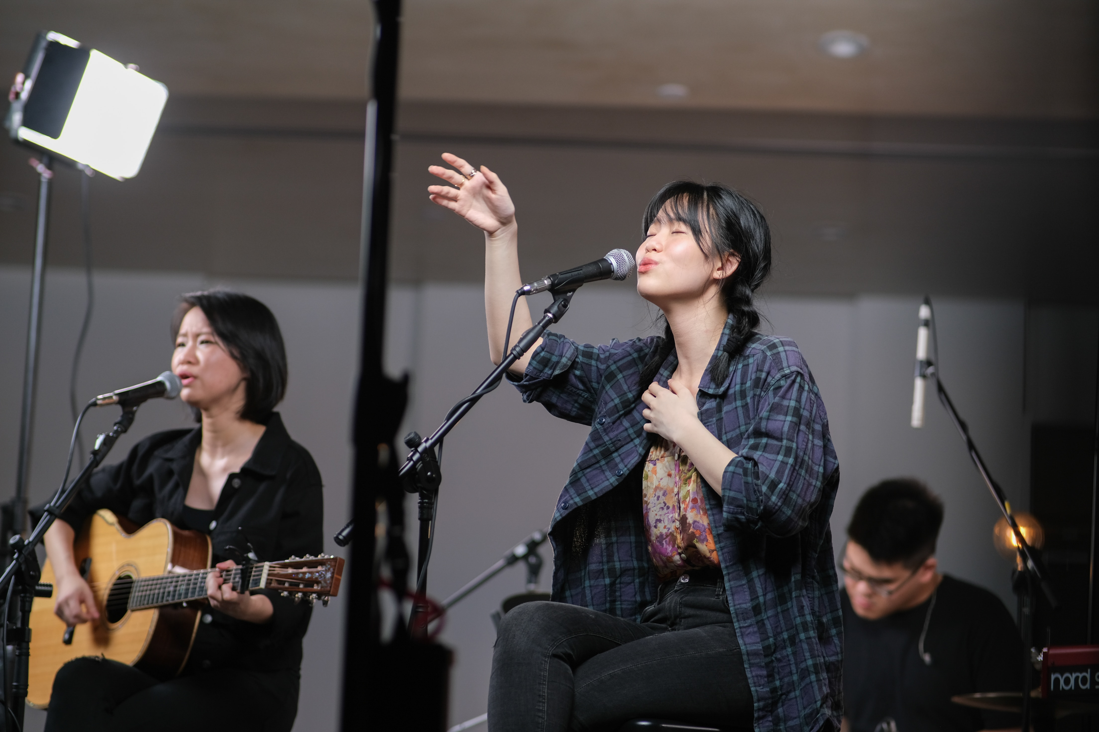 Behind the scenes filming of worship set in a church in KL.