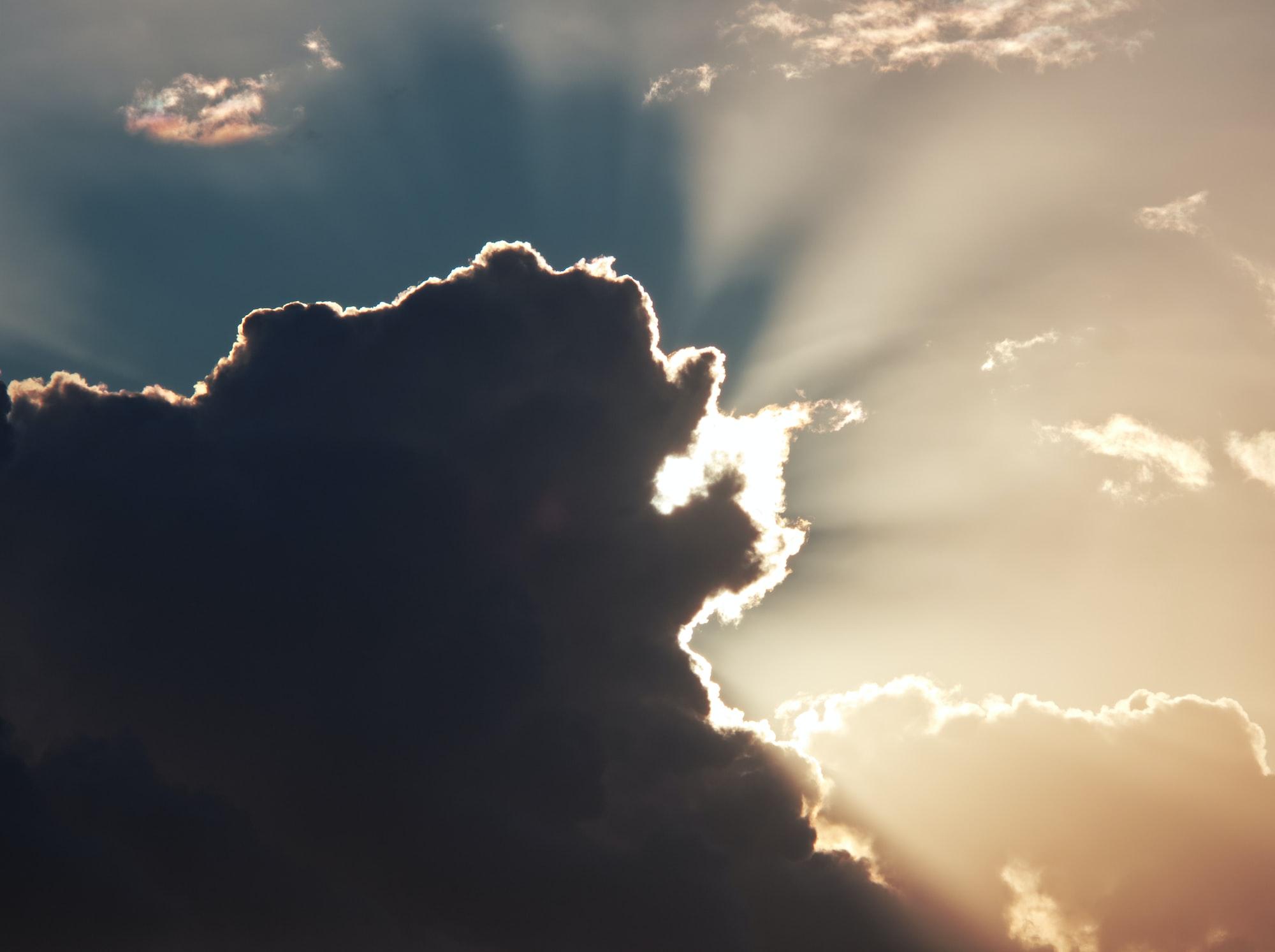 Sun breaking through a cloud