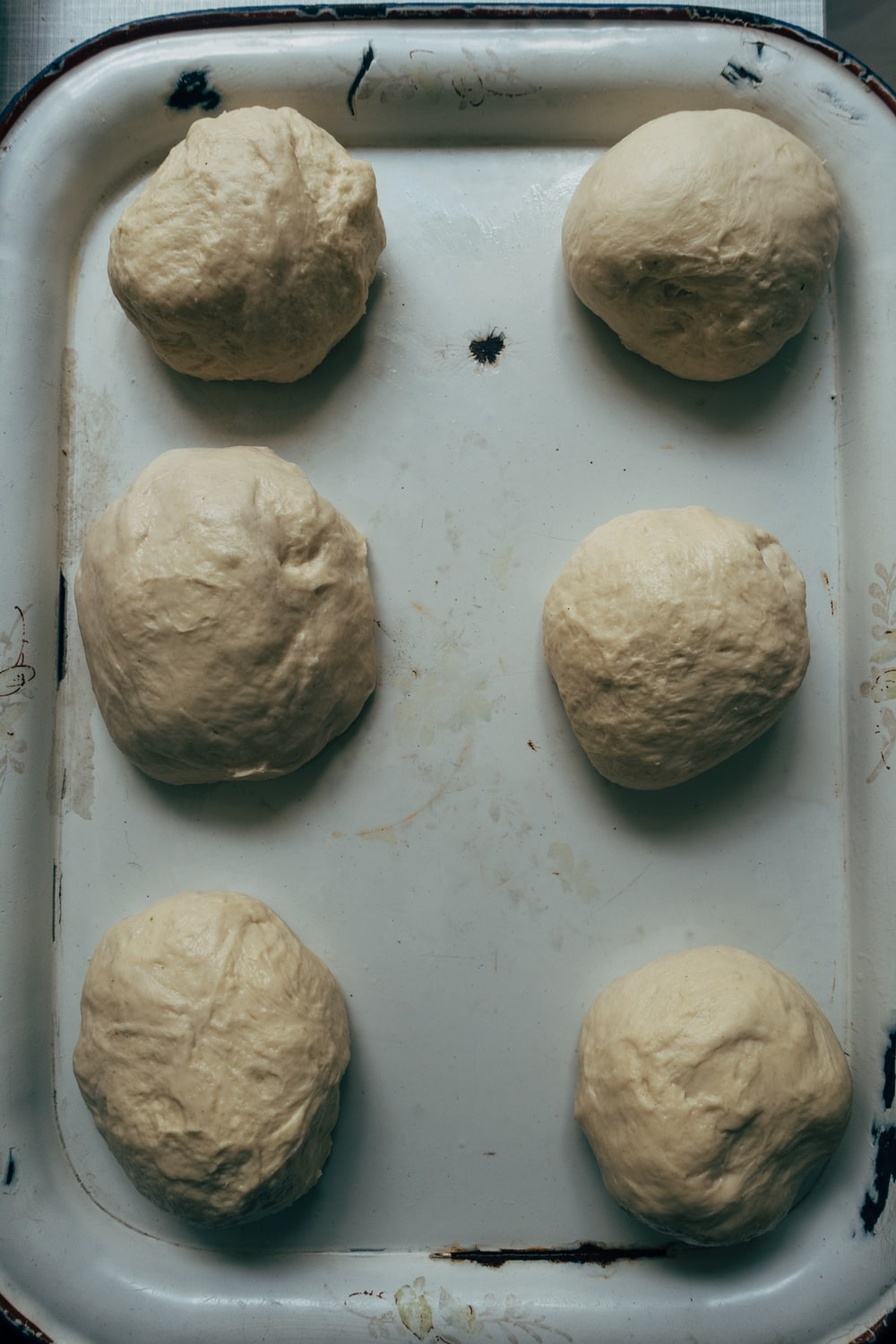 brown dough on white table