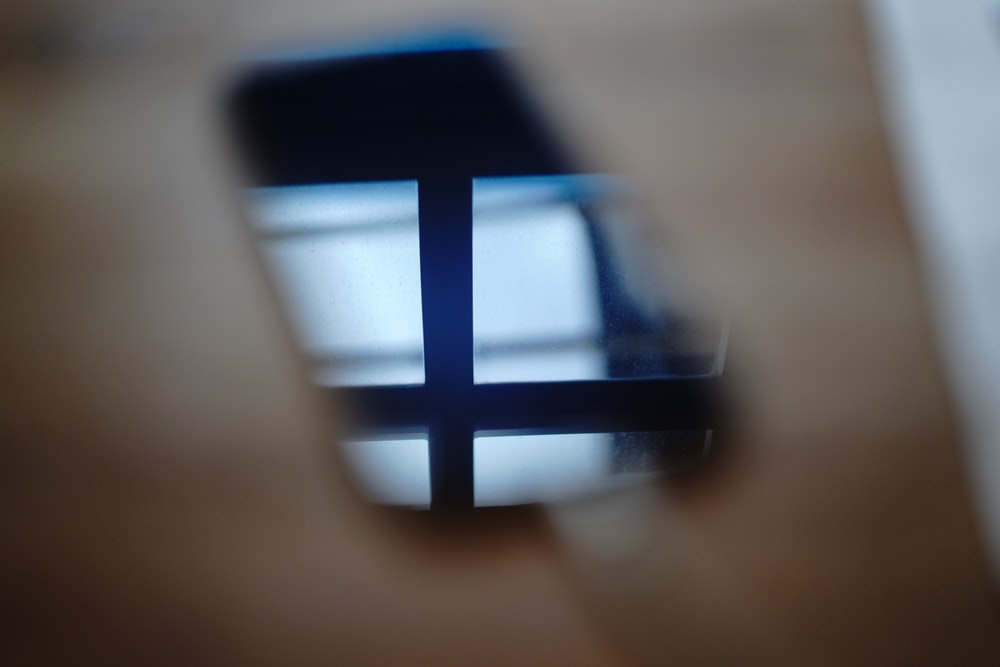 black and blue square frame