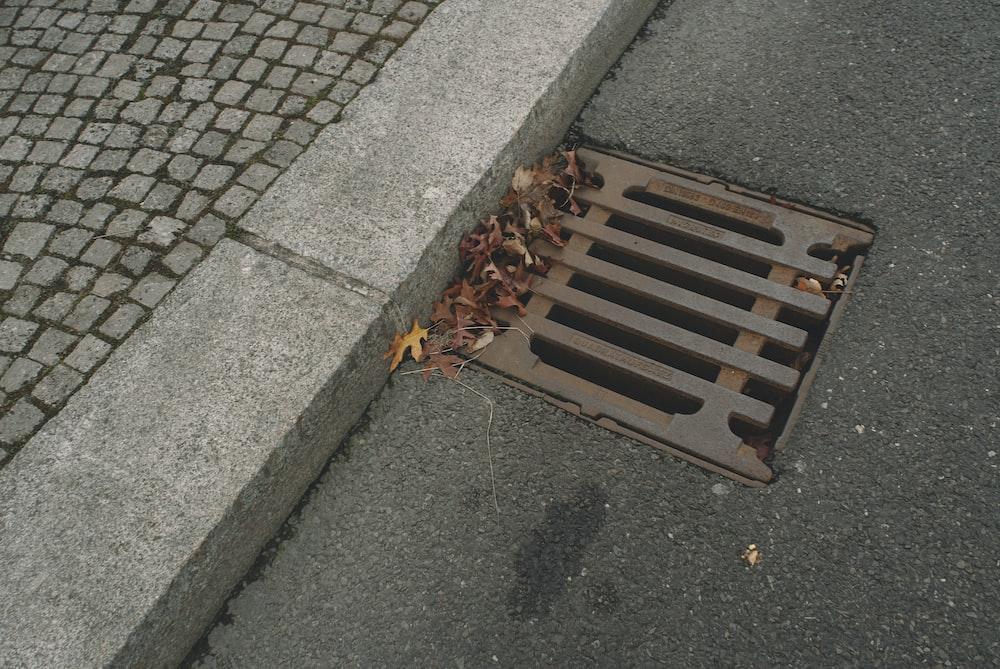 brown metal rectangular frame on gray concrete floor