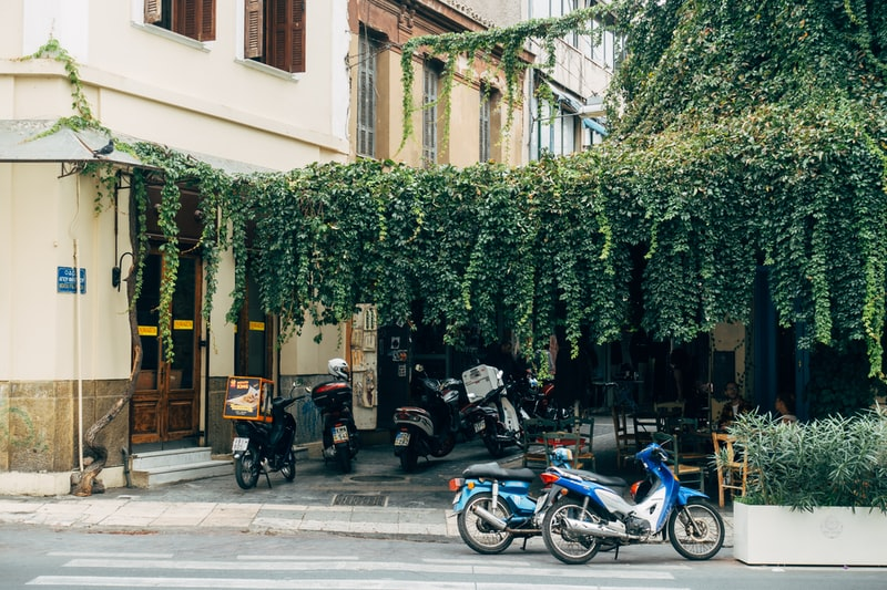 Street view in Athens, Greece