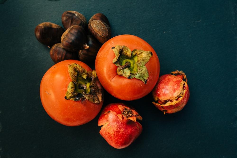 red tomato and black garlic