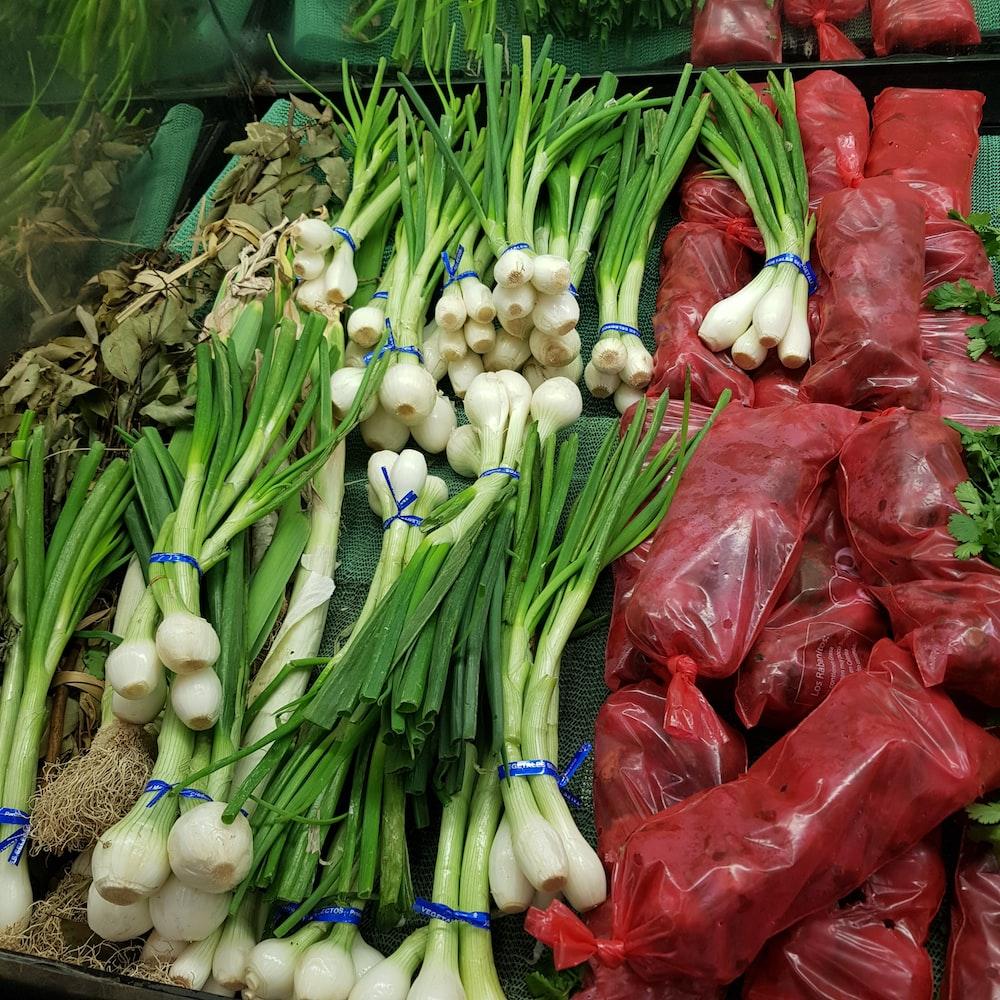 red and white chili and garlic