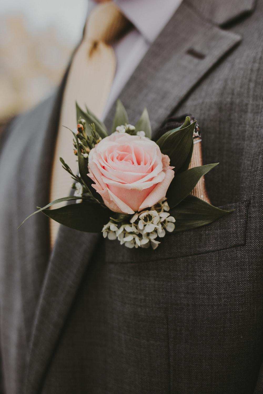 white rose on black textile