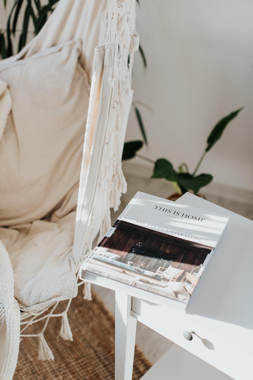 white book on white table