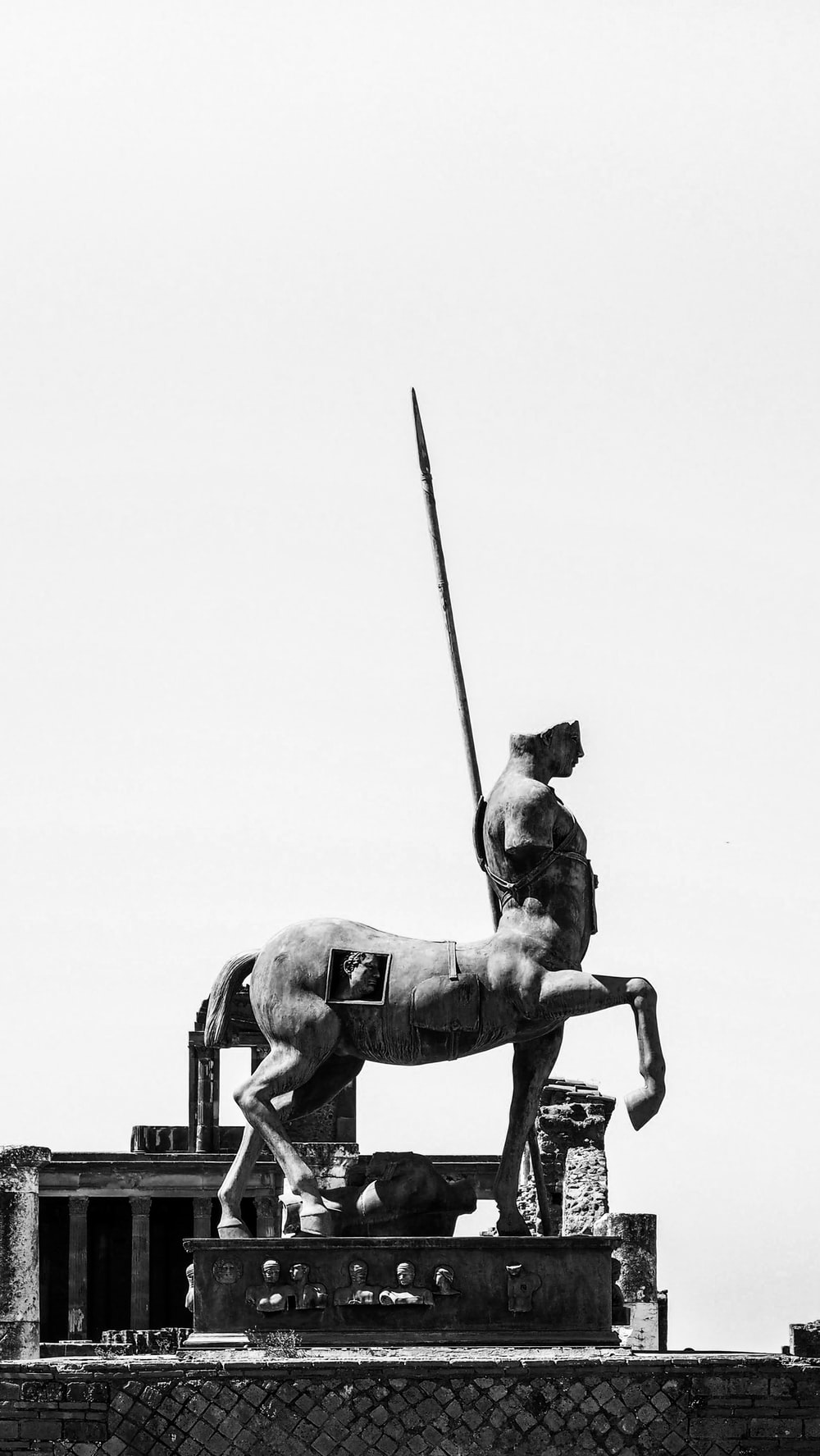 man riding on horse statue