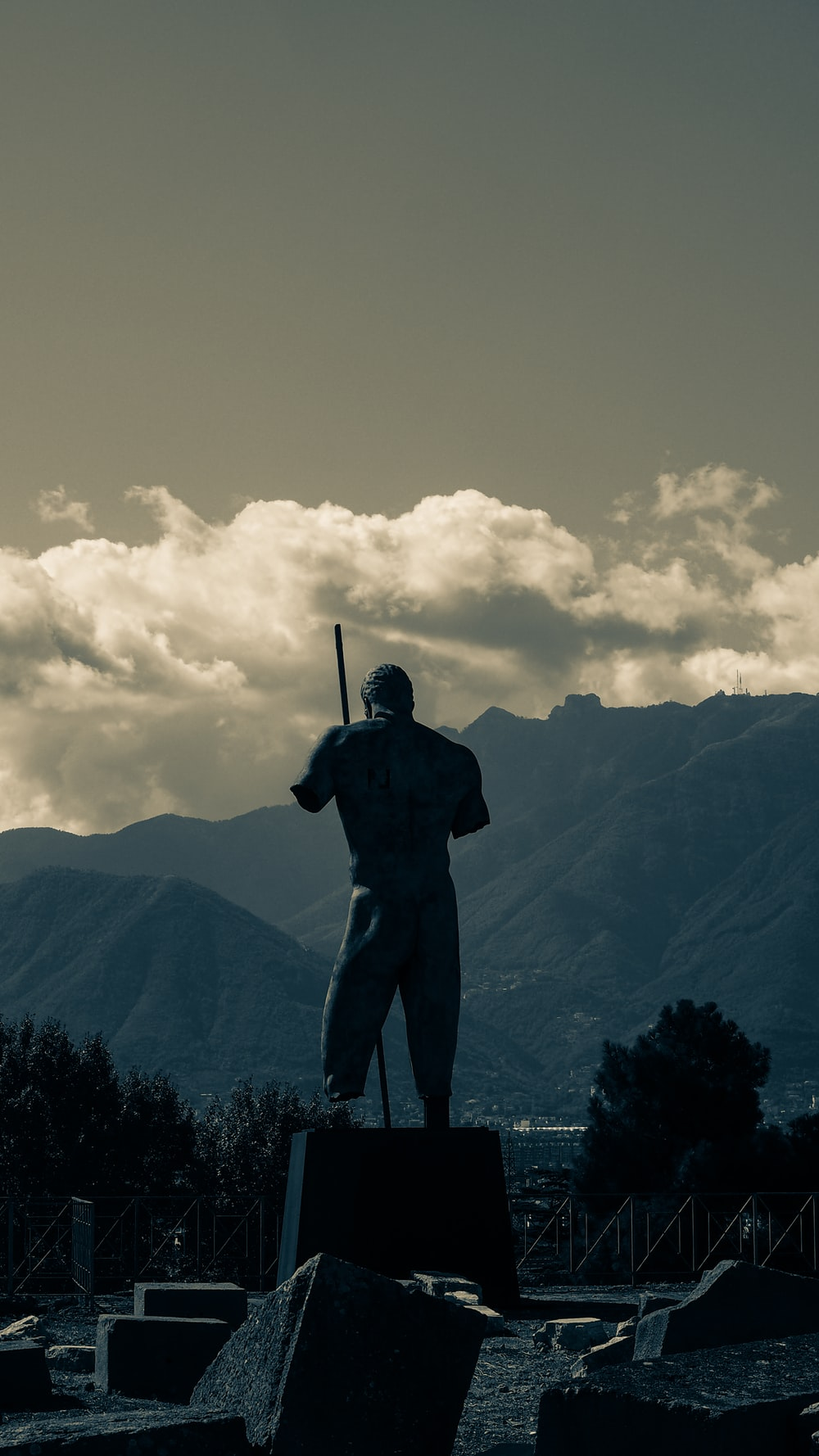 man in black jacket standing on top of mountain during daytime