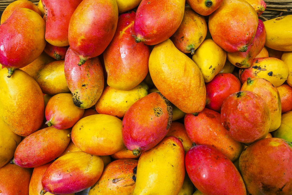 yellow and red fruit lot