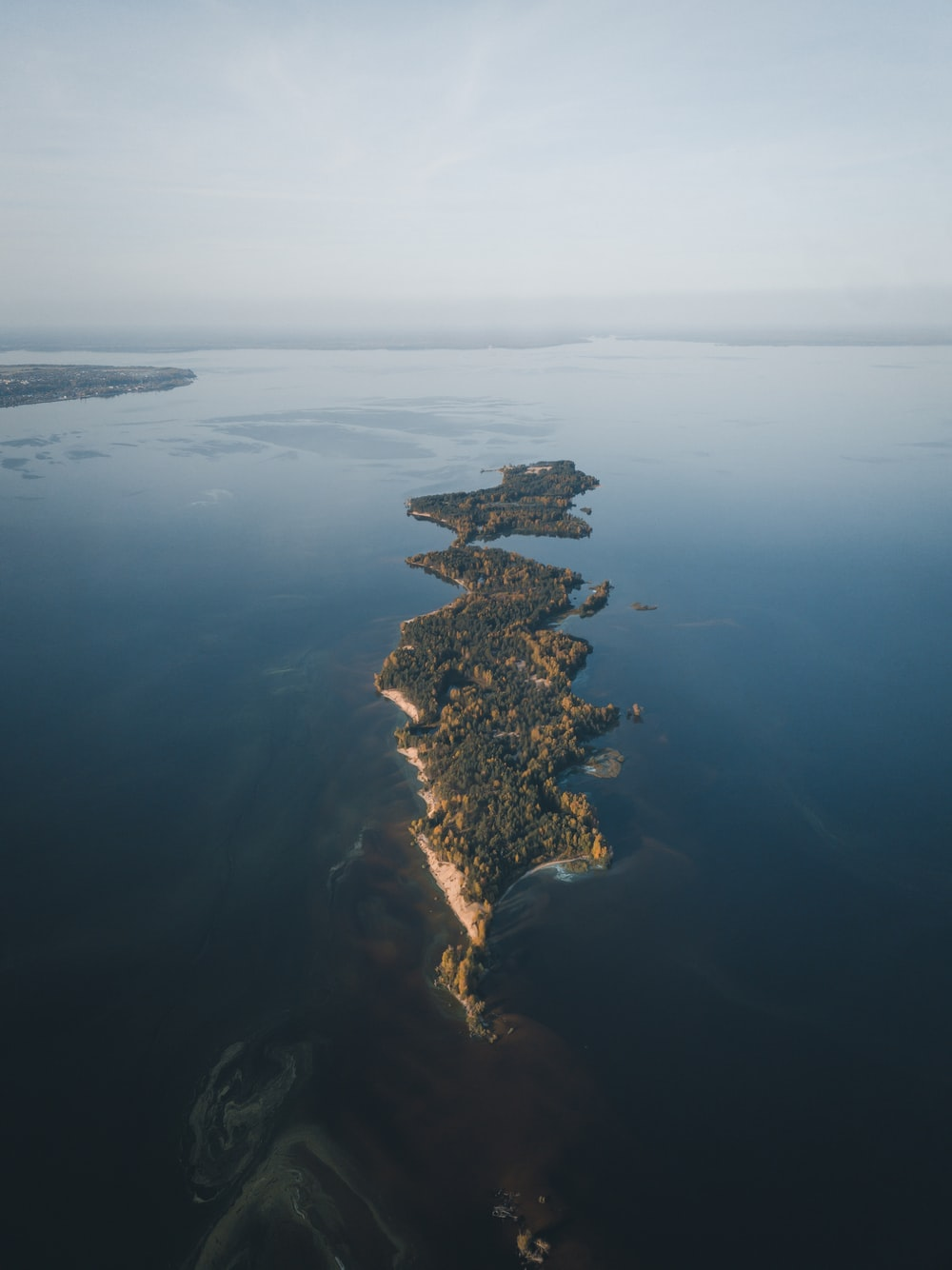 aerial view of island during daytime