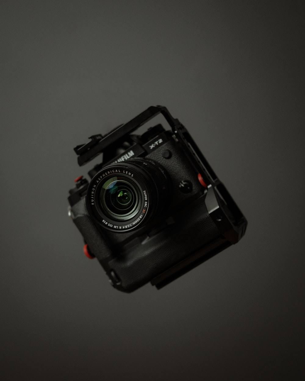 black and gray dslr camera