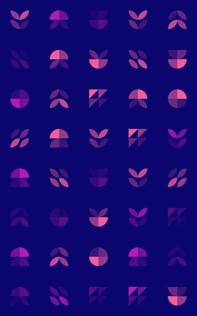 purple and black polka dot textile