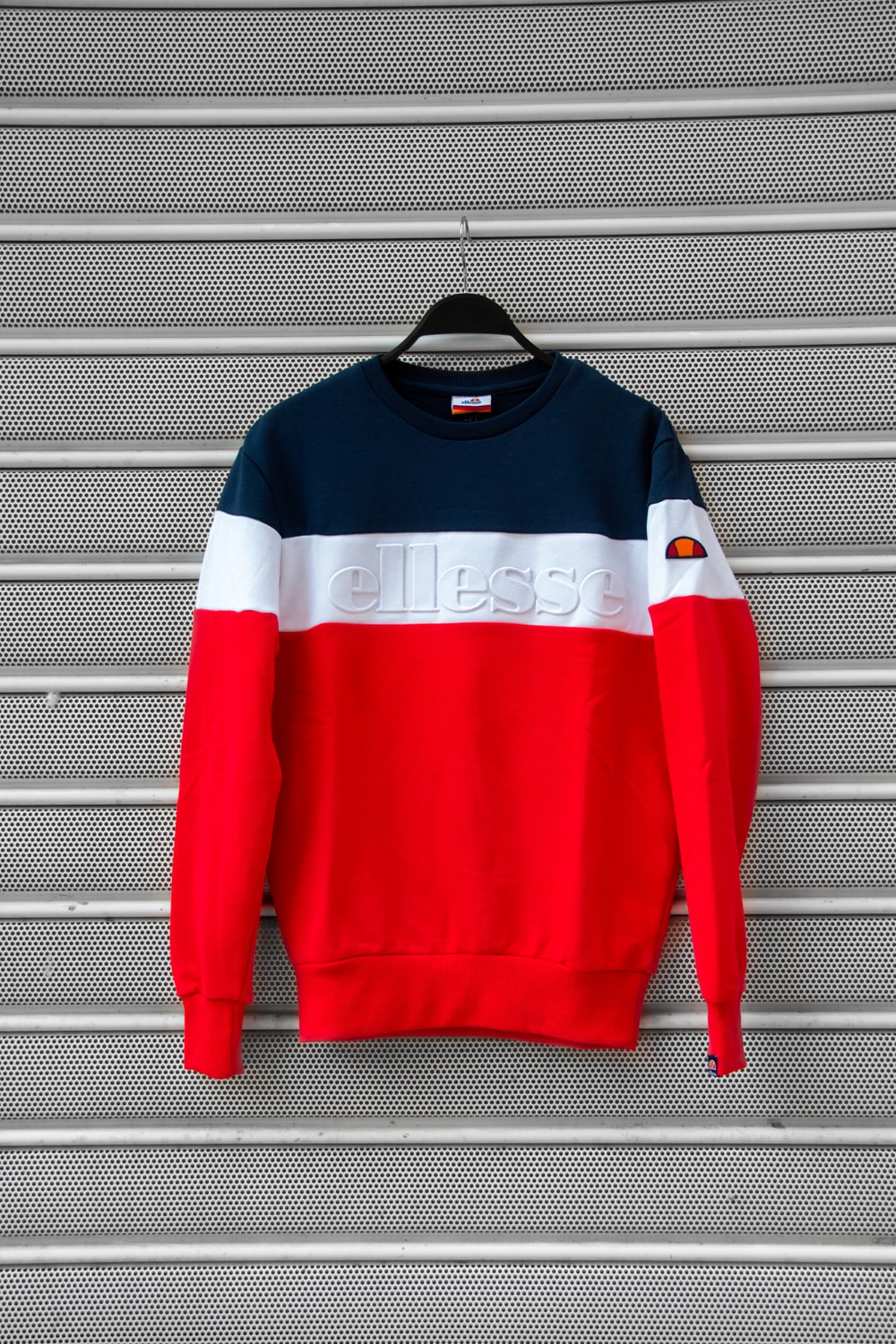 red and white long sleeve shirt