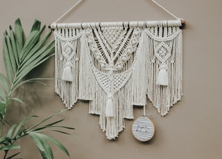 white and black wings wall decor