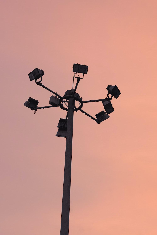 black and gray street light