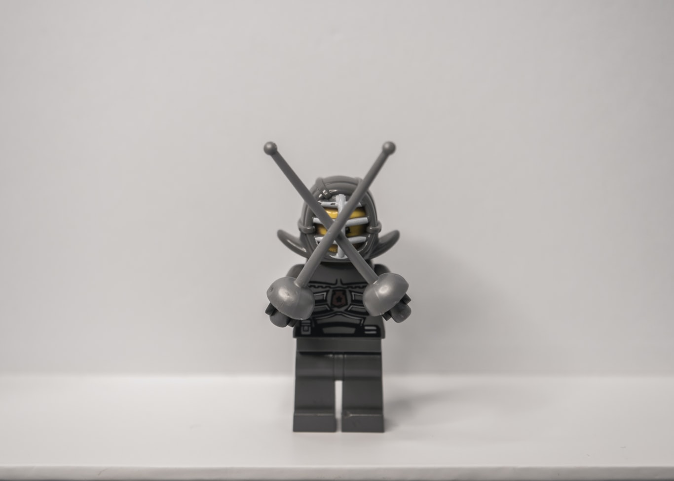 black and gray lego toy