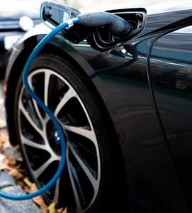 BMW i8 plugged in and charging.