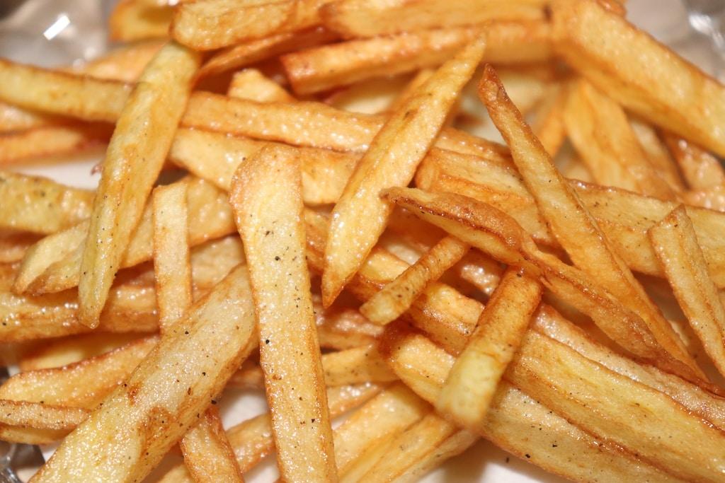 potato fries on white ceramic plate