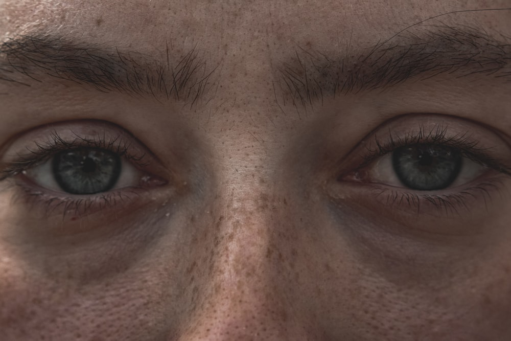 close up photo of mans face