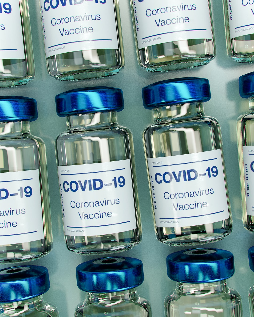 Covid-19 Vaccine Bottle Mockup (does not depict actual vaccine).