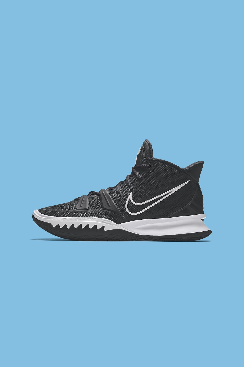 black and white nike athletic shoes