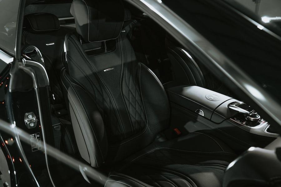 Black interior of a car