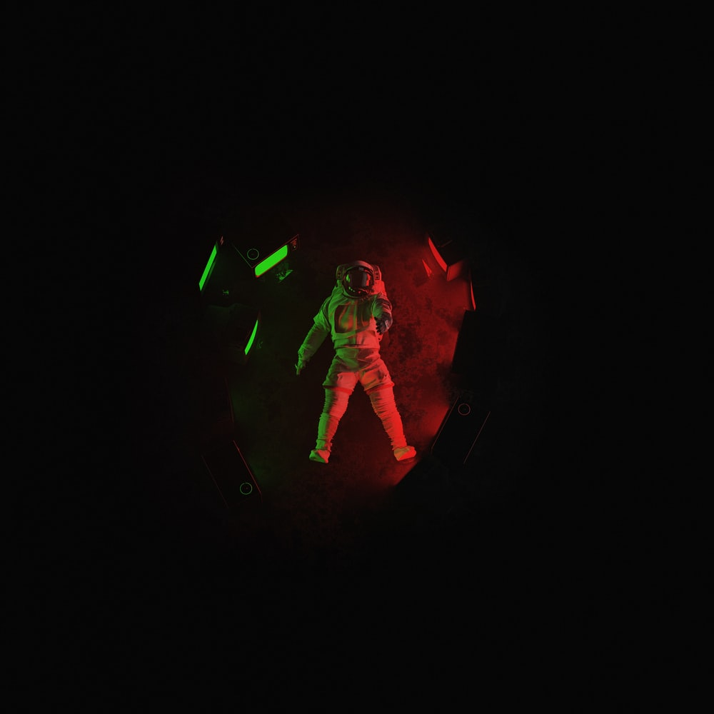 red and green neon light