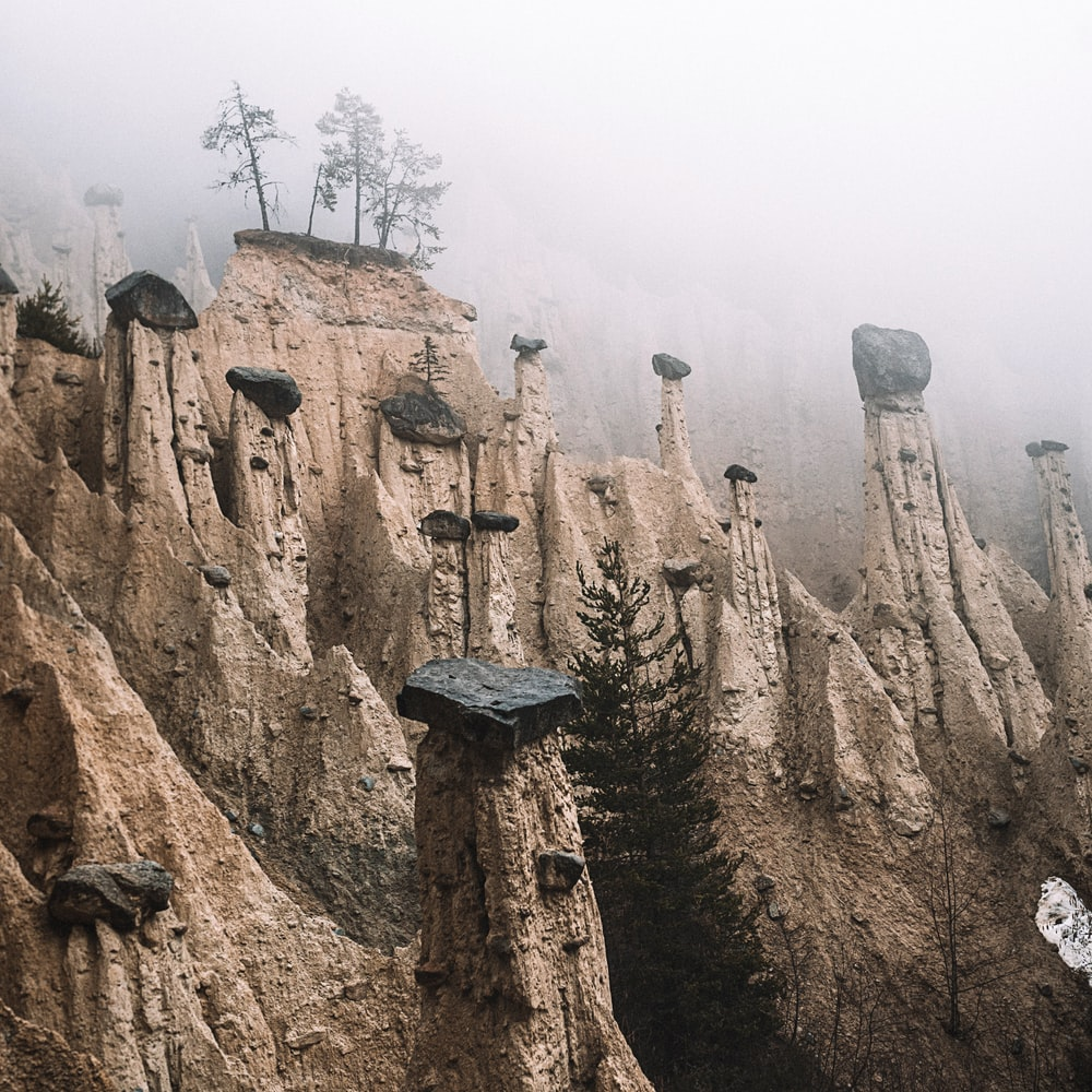 gray rock formation during daytime