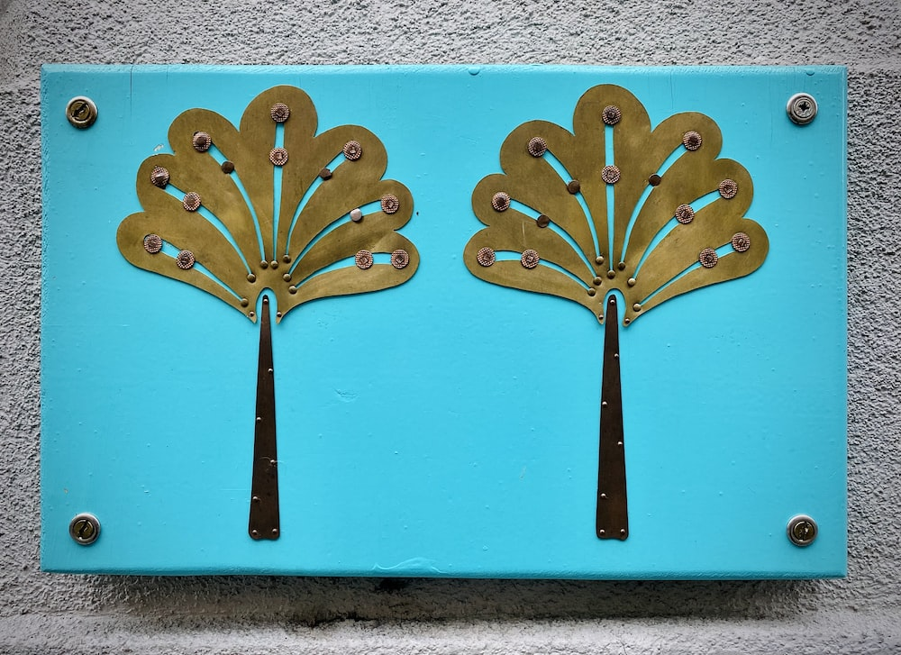 brown wooden wall mounted decor