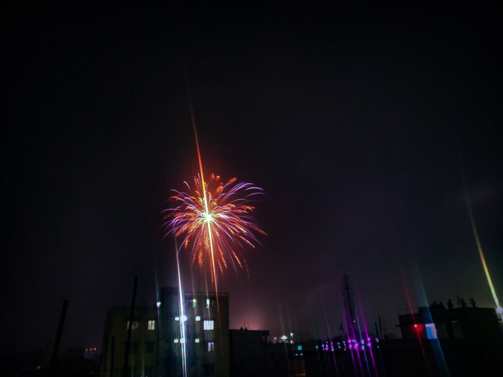 fireworks display during night time