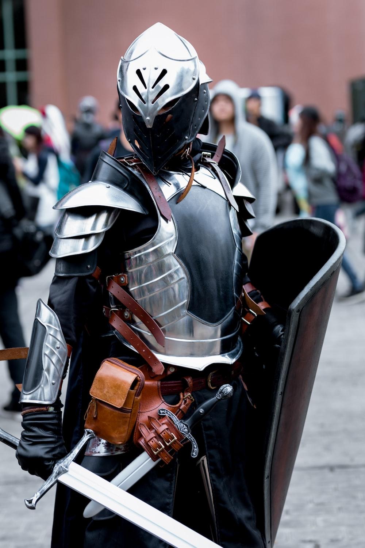 man in black and grey helmet and helmet