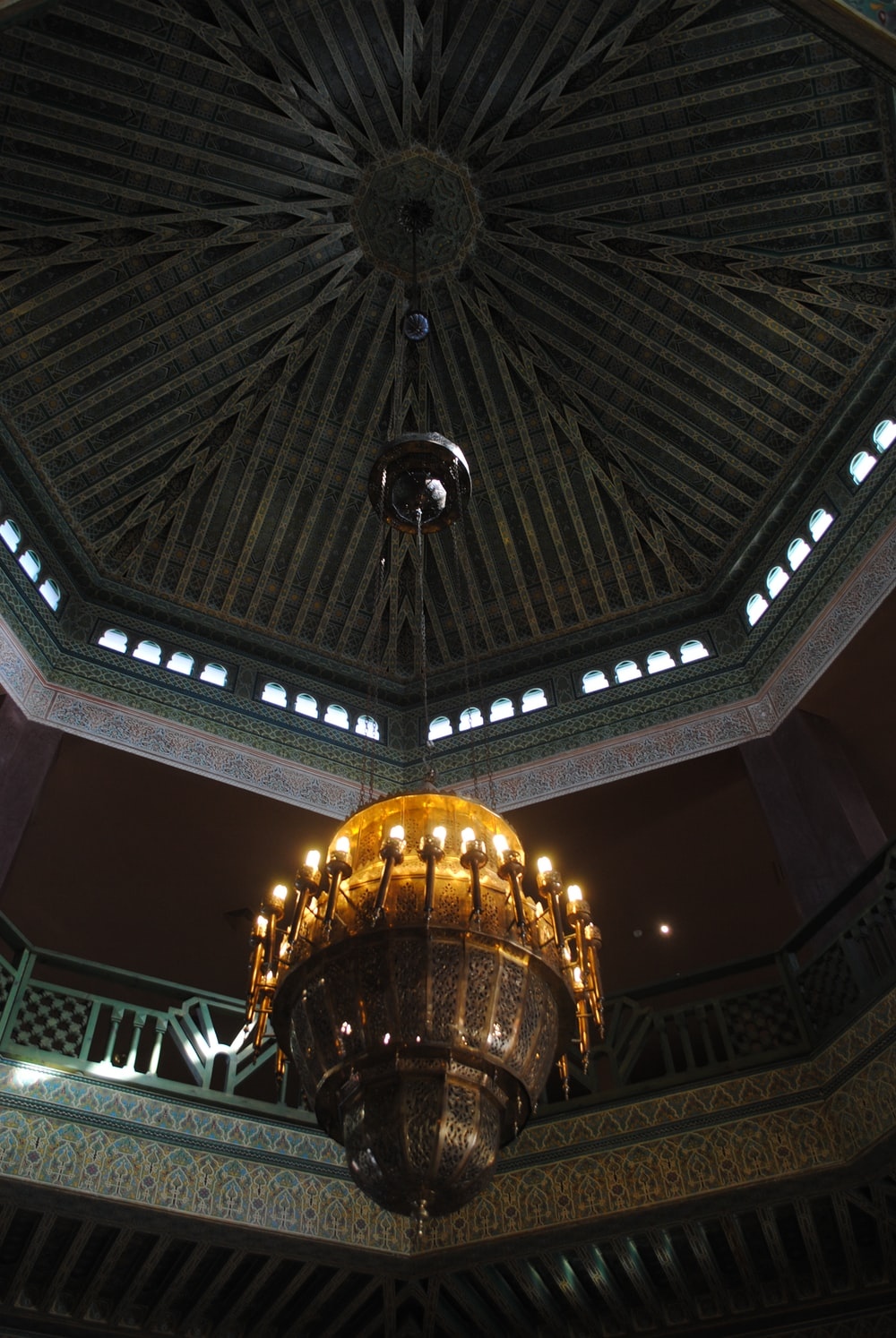 gold and black dome ceiling