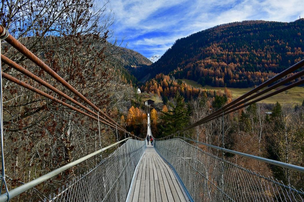 The Charles Kuonen Suspension Bridge, Best Hiking Places in Switzerland