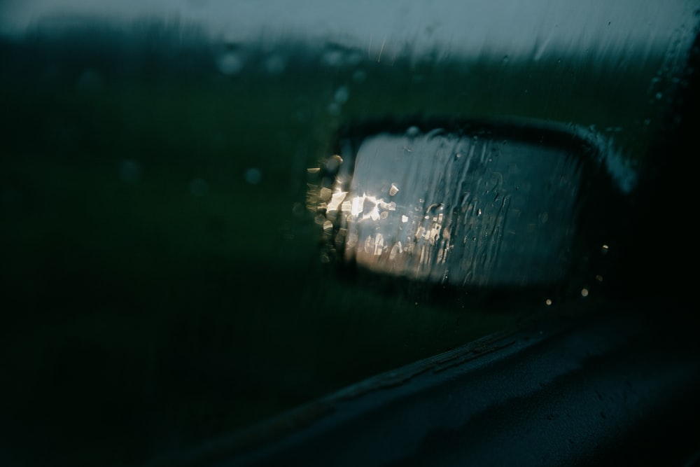 water droplets on car window