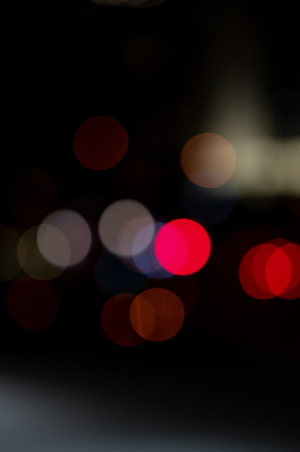 red and yellow bokeh lights